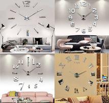 Огромные настенные 3Д часы. Original Diy Clock 3D. Все модели и цвета
