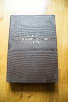 Neues Pharmazeutisches Manual 1924 - stara niemiecka książka
