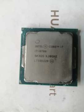 Intel i7 8700 cpu only with stock cooler