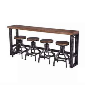 Industrial style metal bar stools with matching bar tables. Order now
