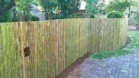 Bamboo fencing and decorating panels