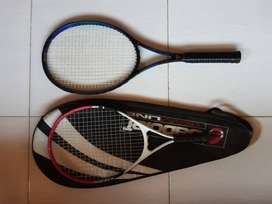 Trojan Graphite and Stats 21 Tennis Racquets. With dual carry bag.