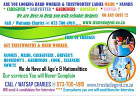 ARE YOU LOOKING HARD WORKER NANNIES and MAIDS