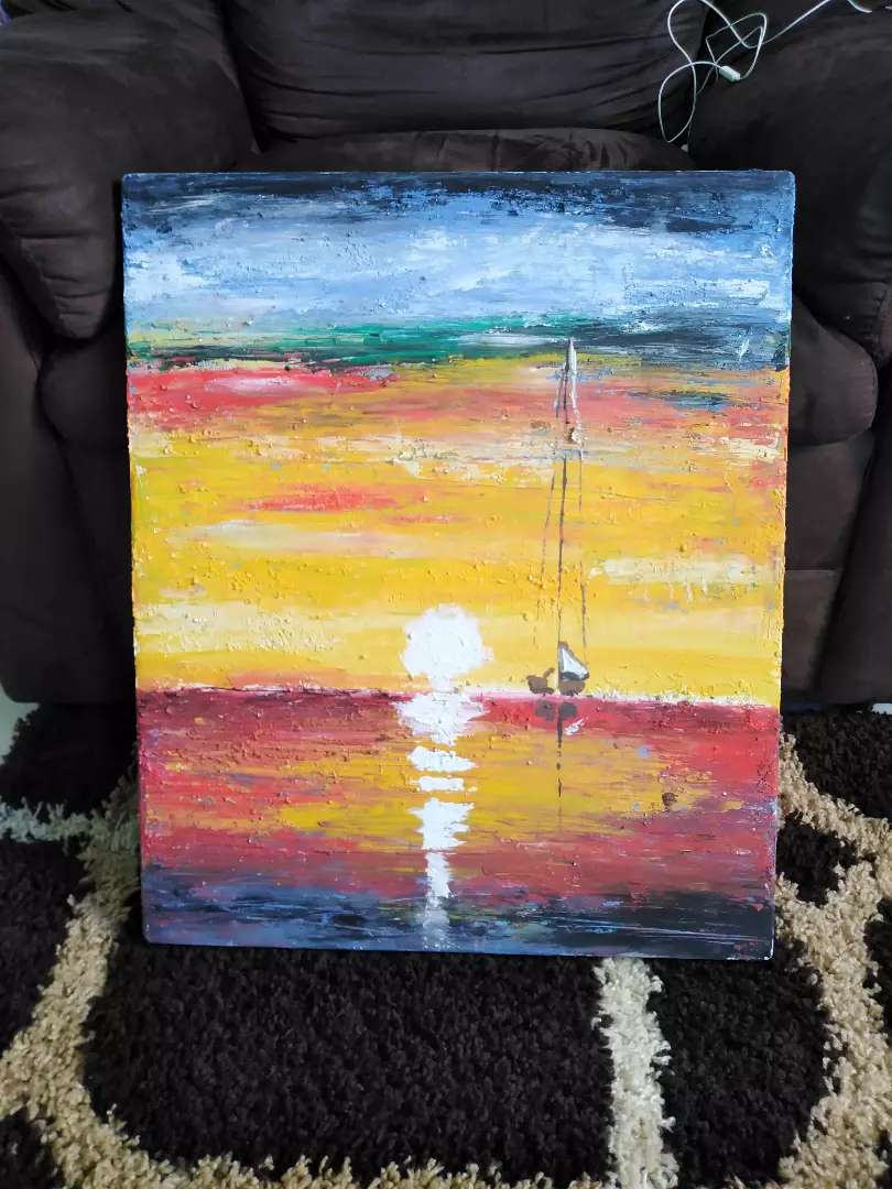 Painting sunset 0