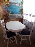 Стол обеденый+4 стула+4 табуретки