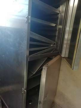 16 trays industrial proover on wheels