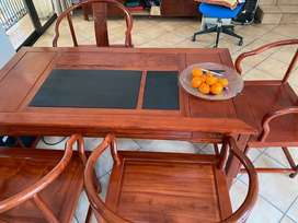 Tea table and chairs