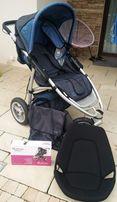 Wózek gondola +spacerówka +akcesoria Quinny jak nowy