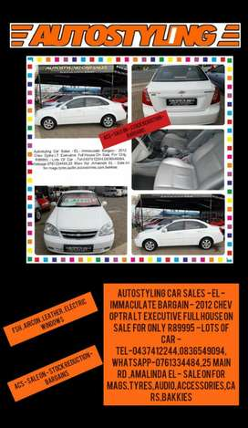 Autostyling Car Sales - EL - Bargain 2012 Chev Optra Lt Exec On Sale