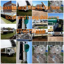 Bakkies and Trucks for hire local and Long distance