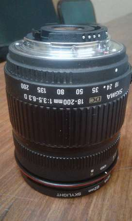 Sigma lens for Nikon 18mm to 200mm