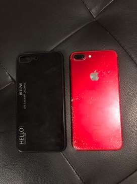 Red limited edition iPhone 7 Plus 256GB with phone case