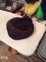 ОБМЕН! женская норковая меховая шапка из цельного меха норки р-р 57