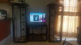 Neat and strong couches with TV stand for sale R3000