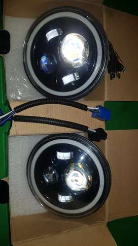 "Jeep Wrangler 7"" Headlights with daytime Halo"
