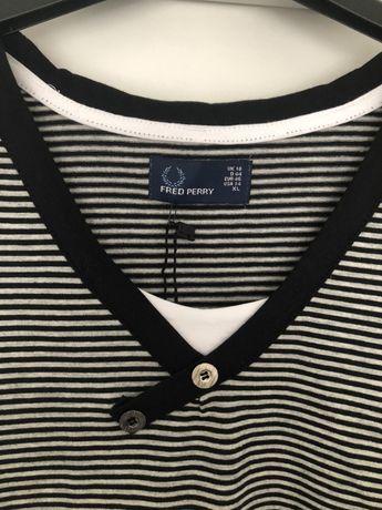 T-shirt Fred Perry rozm. XL w paski Kęty - image 6