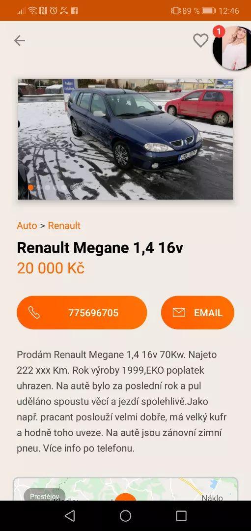 Renault megane 1,4 16v 0