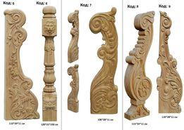 Столбы , балясины, Столб акционный № 2 декоры резные из дерева