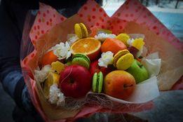 Мужской букет, букет из фруктов, подарок, женщине, мужчине