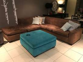Suede Lounge suite with ottoman included!