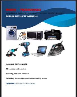 We do Domestic and Industrial electrical apliences service and repairs