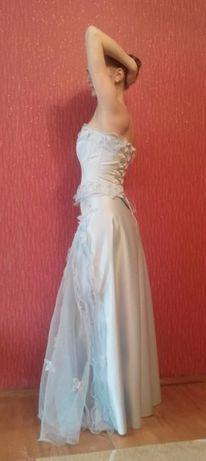 Платье выпускное / на свадьбу + ожерелье и серьги + туфли белые Киев - изображение 3