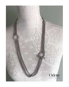 Authentic Mont Blanc Caress Star Collection Sterling Silver  Necklace