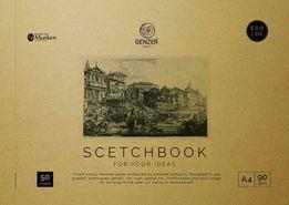 Скетчбук10шт, альбом для художников на основе шведской бумаги (Munken)