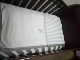 baby cot bed, stroller and floor seat for sale