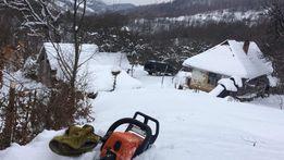 работы на приусадебном участке с бензопилой и мотокосой, обрезка сада