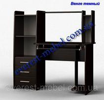 Компьютерный стол Лира с полками. Разные цвета