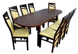 Stół + 8 Krzeseł W Bardzo Niskiej Cenie! PRODUCENT! Dostawa