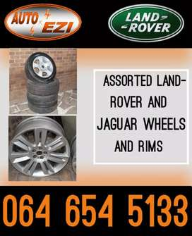 Land rover and Jaguar Rims and tyres for sale.(Land Rover Spares)