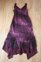 Fioletowa zwiewna sukienka M