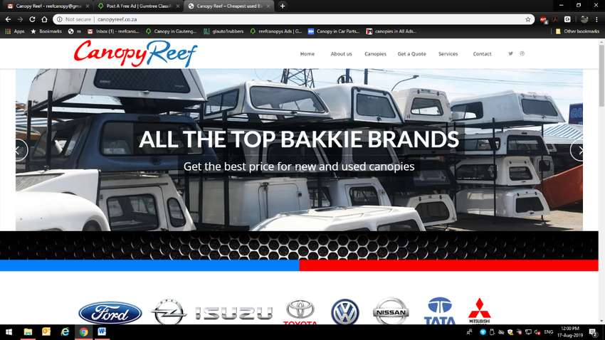 New and used canopies for all brand of bakkies 0
