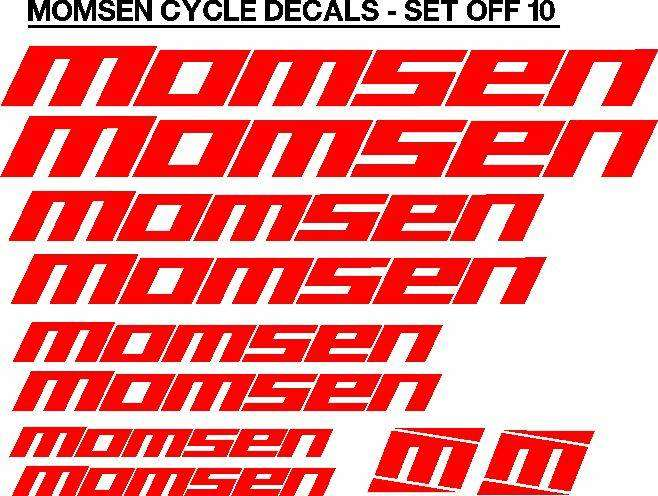Momsen bicycle frame stickers decals kits 0