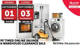 Timed Online Salvage & Warehouse Clearance Sale
