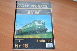 Железная дорога, бумажная модель 1:45 EU/EP-05, цена за шт.