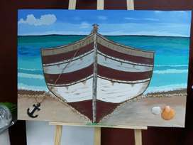 Boat canvas 3D painting