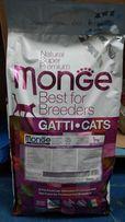 Monge корм для котов СуперПремиум Италия 10 кг