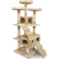 Nowy wysoki drapak dla kota kotów beżowy 175cm 3 tarasy widokowe