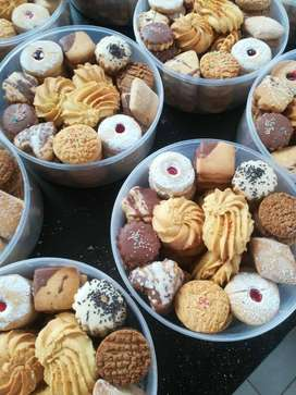 Freshly baked mixed biscuits