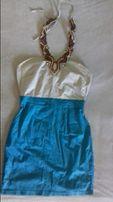Sukienka letnia wiazana na szyi ORSAY roz 38 M koraliki etniczny wzór