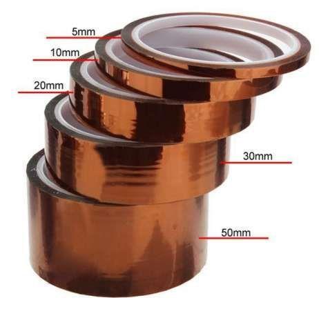 Скотч термоскотч Kapton 60мк 5-300мм 33м Koptan каптонт термостойкий Черкассы - изображение 5