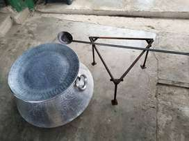 Pot, spoon and stand