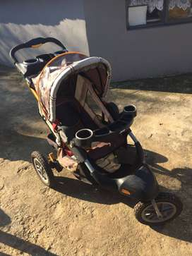 Jeep pram and Baby seat