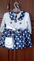 Новое платье, платье для девочки на возраст до года.
