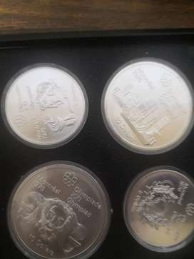 24 Silver doller Canadian 1974 to1976 Olympics coins