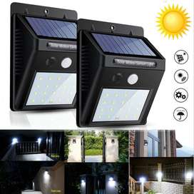 solar motion sensor wall led light