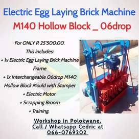 Electric Egg Laying Brick Machine for M140 Hollow Block